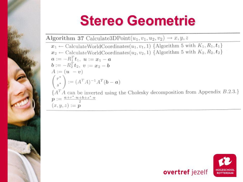 # Stereo Geometrie