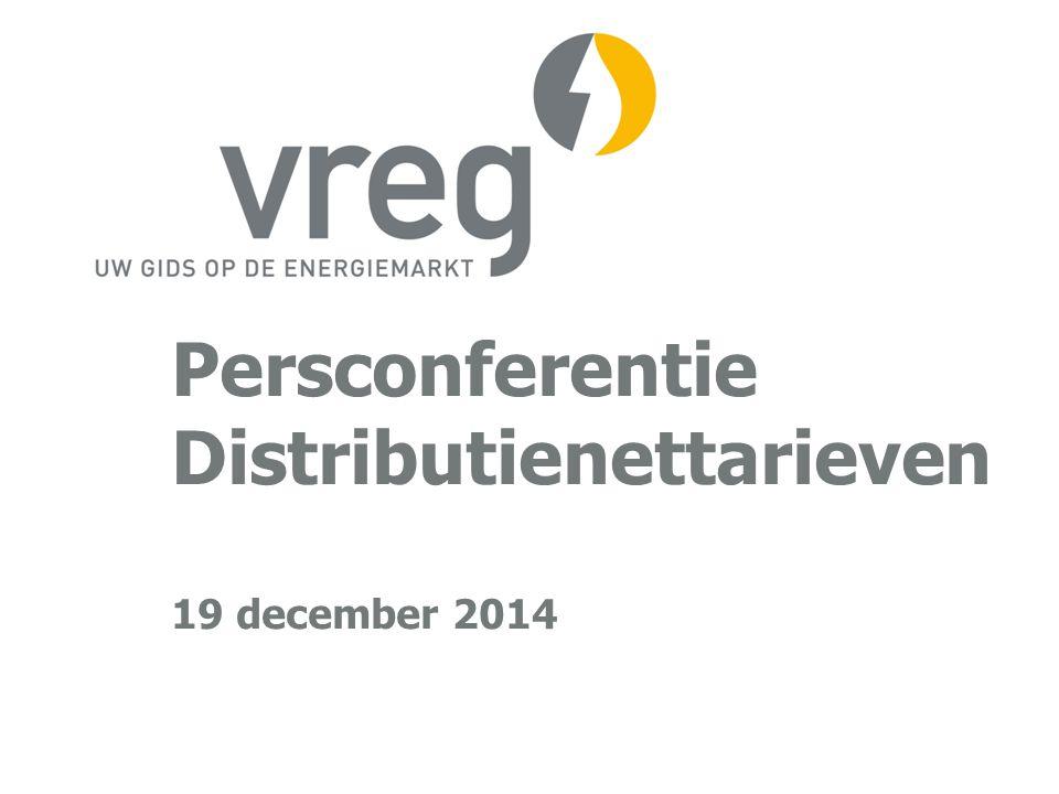 Persconferentie Distributienettarieven 19 december 2014