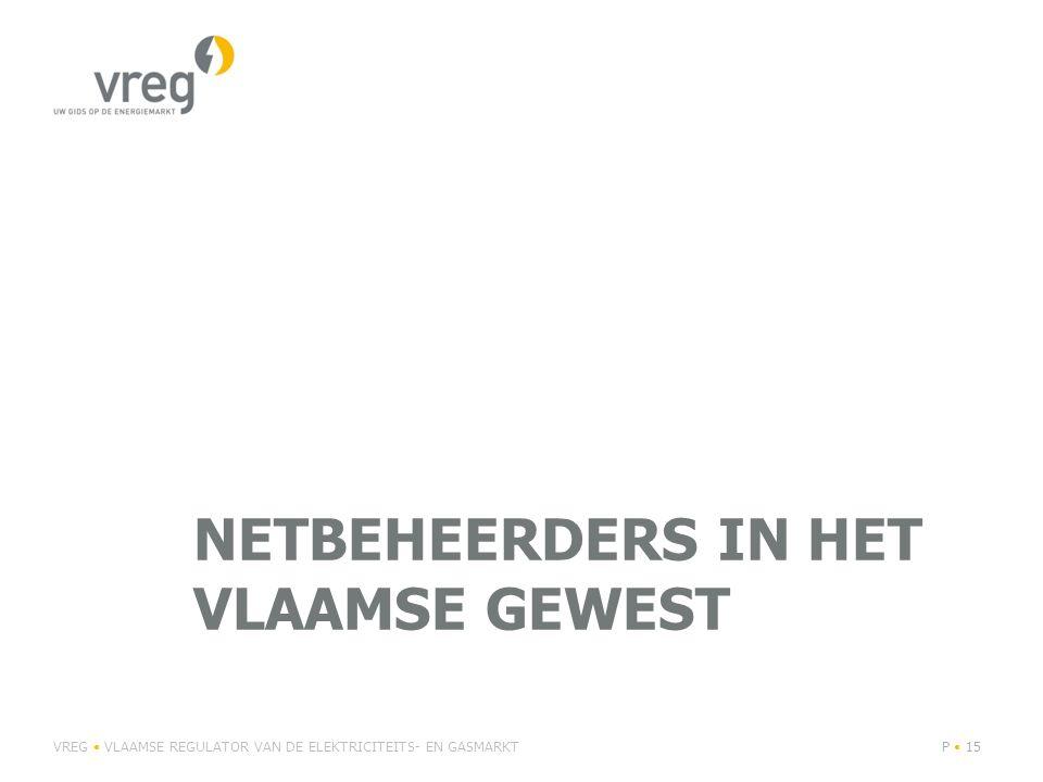 VREG VLAAMSE REGULATOR VAN DE ELEKTRICITEITS- EN GASMARKTP 16 Netgebieden elektriciteit