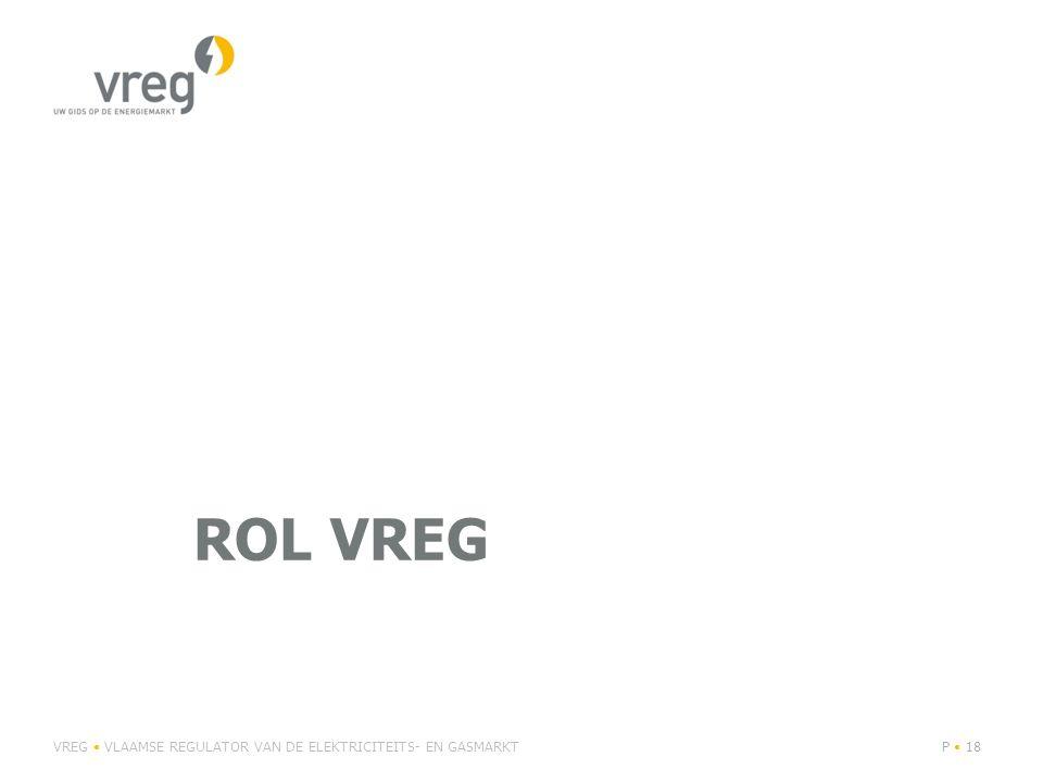 ROL VREG VREG VLAAMSE REGULATOR VAN DE ELEKTRICITEITS- EN GASMARKTP 18
