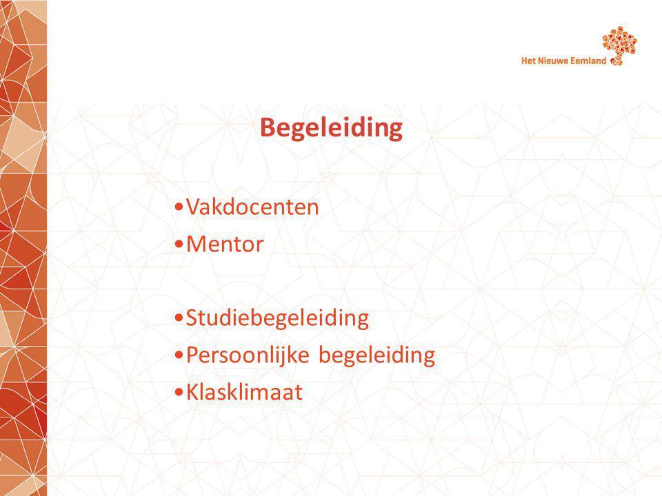Begeleiding Vakdocenten Mentor Studiebegeleiding Persoonlijke begeleiding Klasklimaat