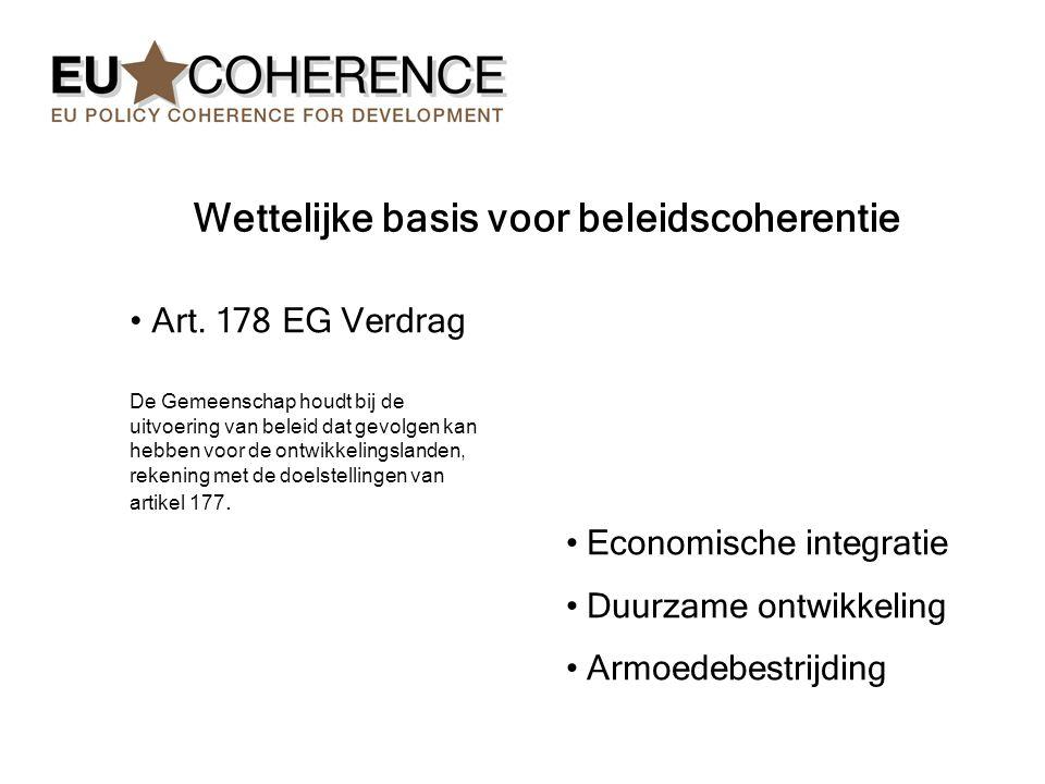 Wettelijke basis voor beleidscoherentie Art.