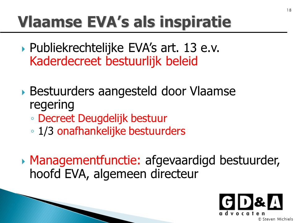  Publiekrechtelijke EVA's art. 13 e.v.