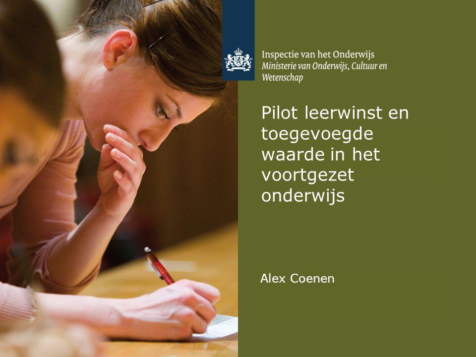 Pilot leerwinst en toegevoegde waarde in het voortgezet onderwijs Alex Coenen