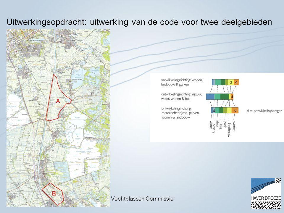 18 november 2014Vechtplassen Commissie Uitwerkingsopdracht: uitwerking van de code voor twee deelgebieden