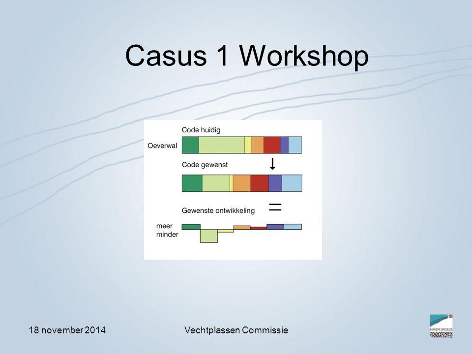 18 november 2014Vechtplassen Commissie Casus 1 Workshop
