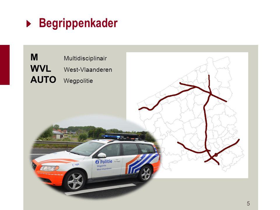 5 Begrippenkader M Multidisciplinair WVL West-Vlaanderen AUTO Wegpolitie