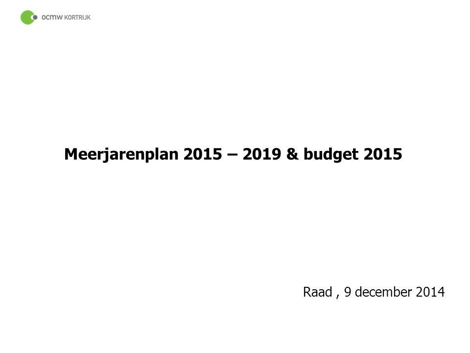 44 Meerjarenplan 2015 – 2019 & budget 2015 Raad, 9 december 2014
