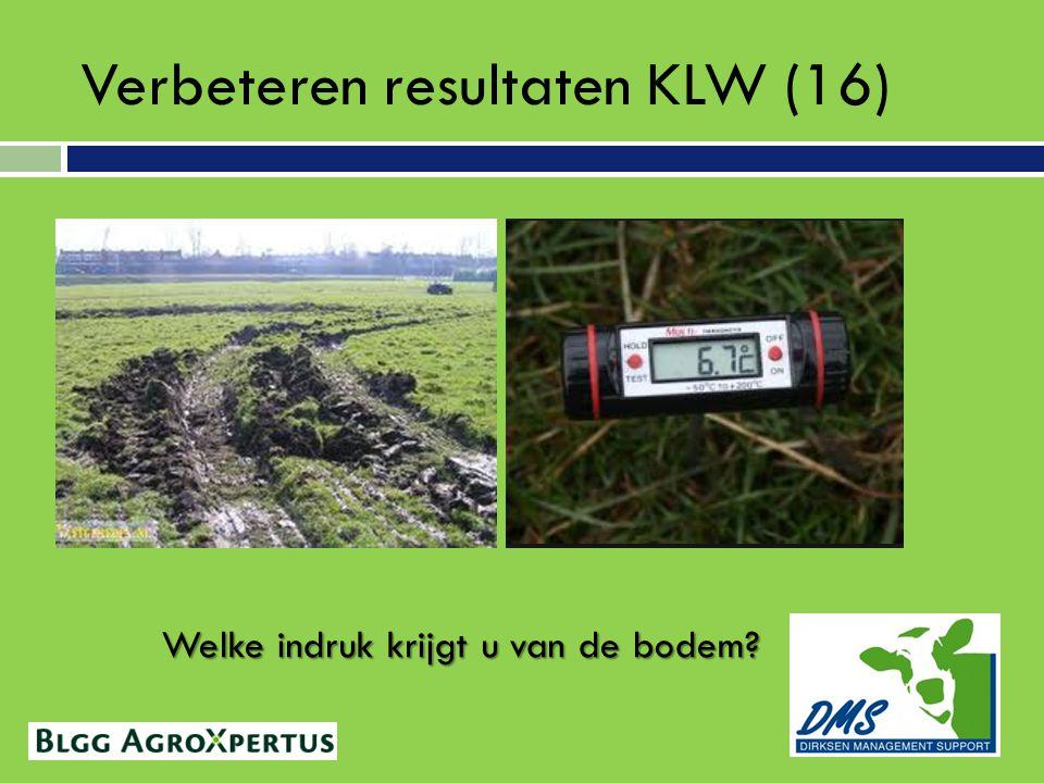 Verbeteren resultaten KLW (16) Welke indruk krijgt u van de bodem?