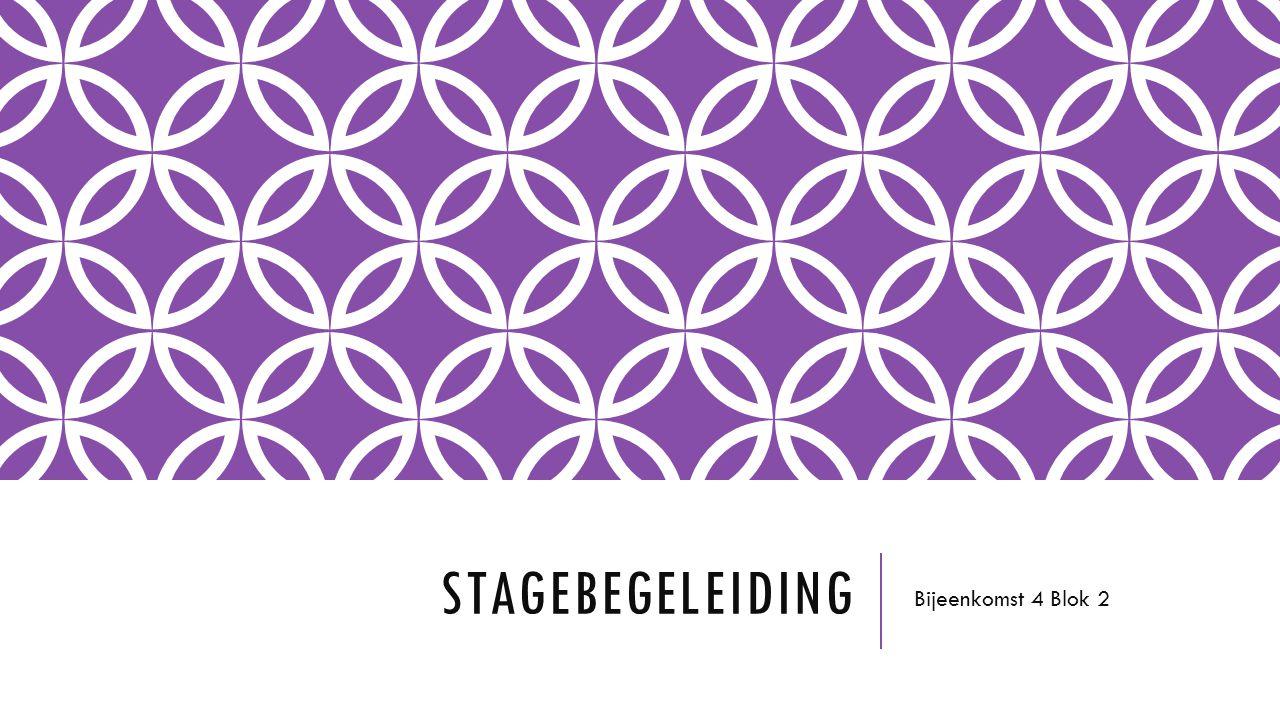 STAGEBEGELEIDING Bijeenkomst 4 Blok 2