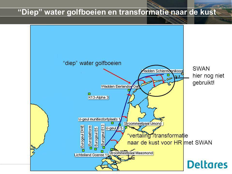 Diep water golfboeien en transformatie naar de kust diep water golfboeien vertaling /transformatie naar de kust voor HR met SWAN SWAN hier nog niet gebruikt!