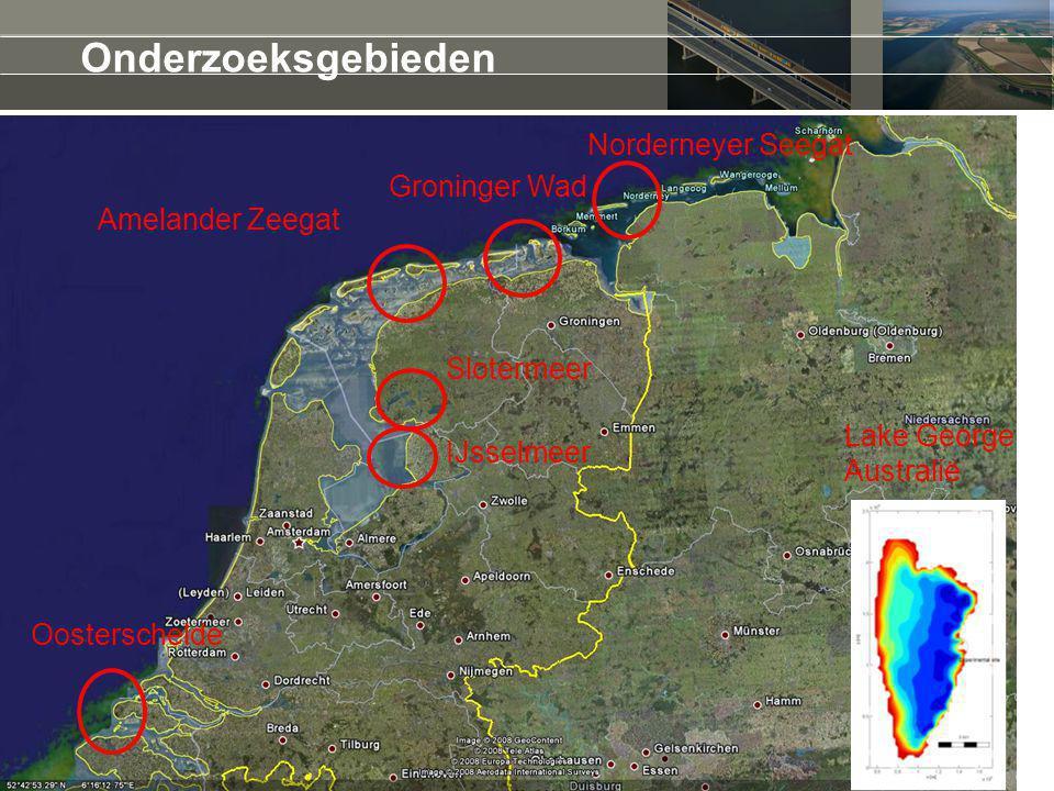 Amelander Zeegat Norderneyer Seegat Onderzoeksgebieden Groninger Wad Slotermeer Oosterschelde IJsselmeer Lake George Australië