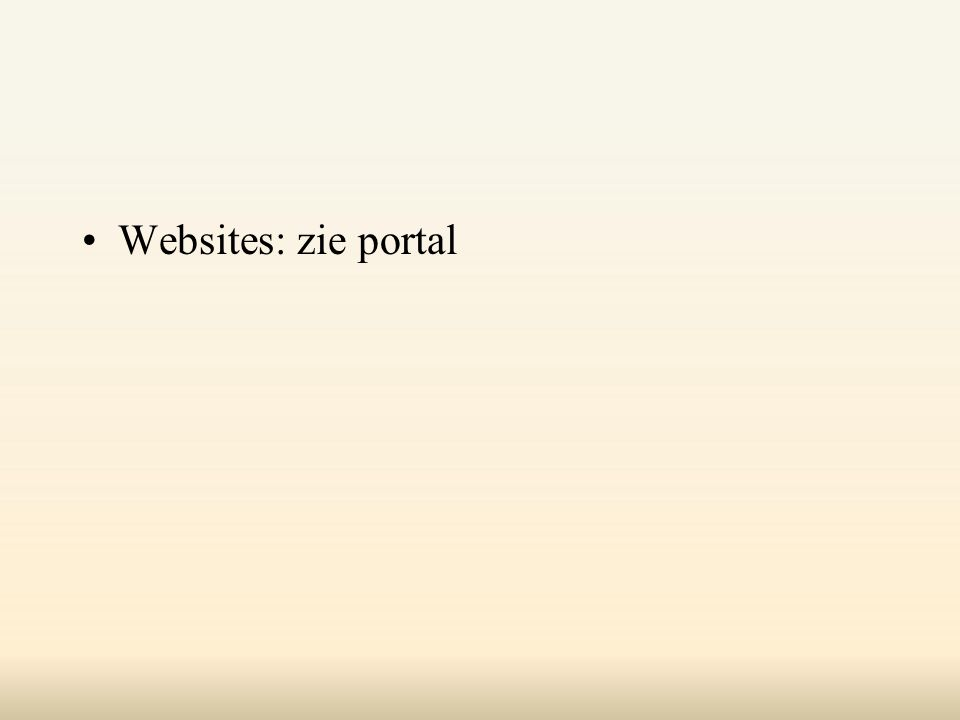 Websites: zie portal
