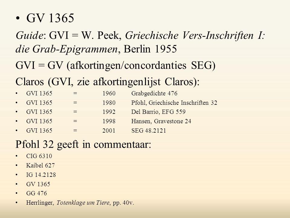 GV 1365 Guide: GVI = W.