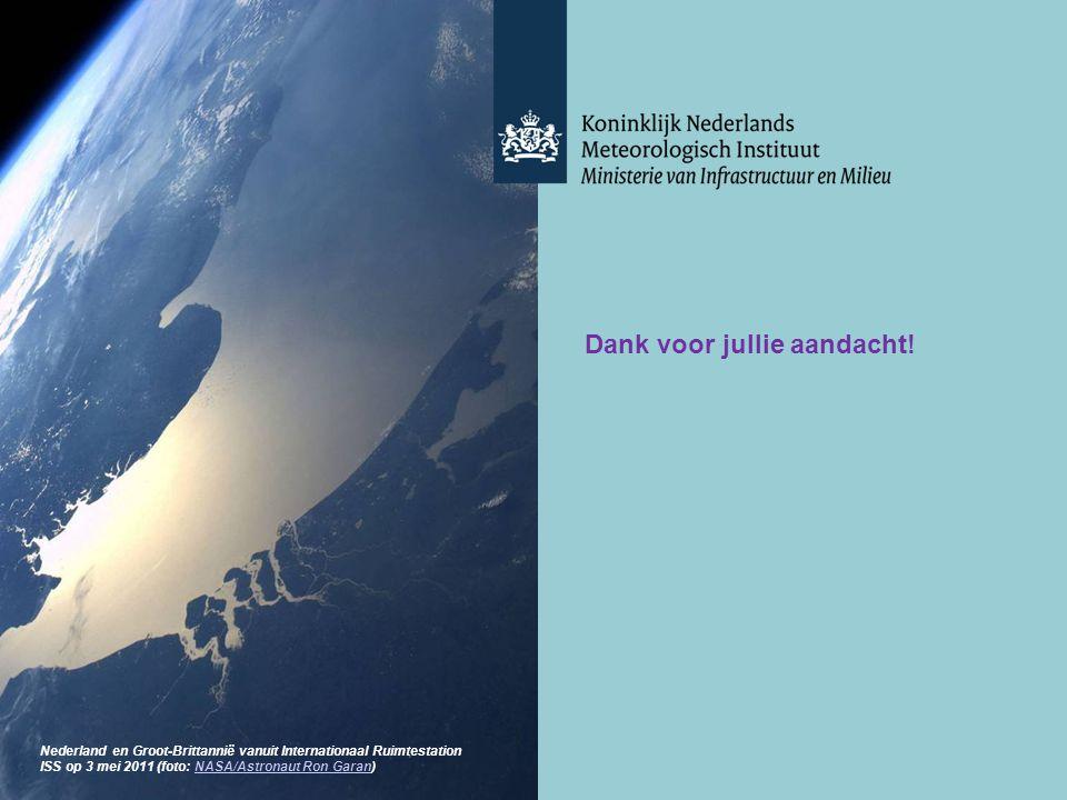 28/10/13 Dank voor jullie aandacht! Nederland en Groot-Brittannië vanuit Internationaal Ruimtestation ISS op 3 mei 2011 (foto: NASA/Astronaut Ron Gara