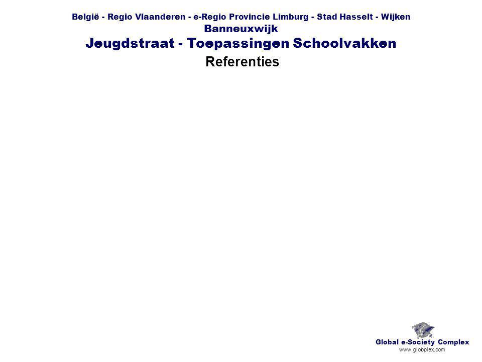 België - Regio Vlaanderen - e-Regio Provincie Limburg - Stad Hasselt - Wijken Banneuxwijk Jeugdstraat - Toepassingen Schoolvakken Referenties Global e-Society Complex www.globplex.com