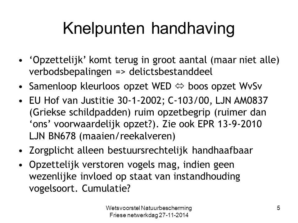 Vooruitlopen op wet Rechtbank Den Haag 17-11-2011 (BU4981): verontrusten/verstoren: vooruitlopen op nieuwe regelgeving (consultatieversie) mag.