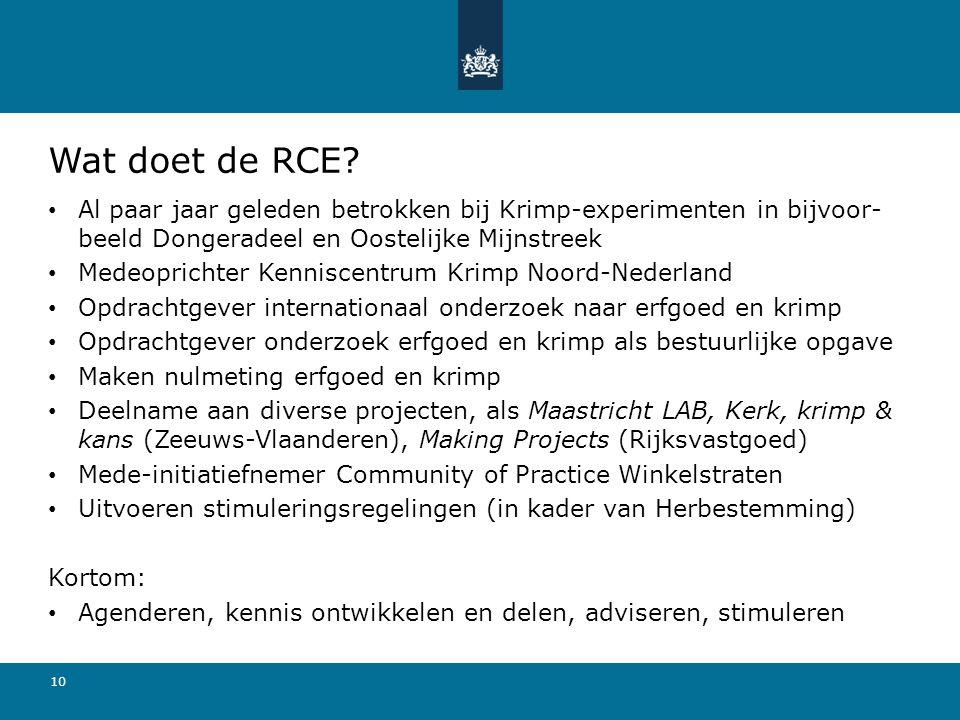 10 Wat doet de RCE.