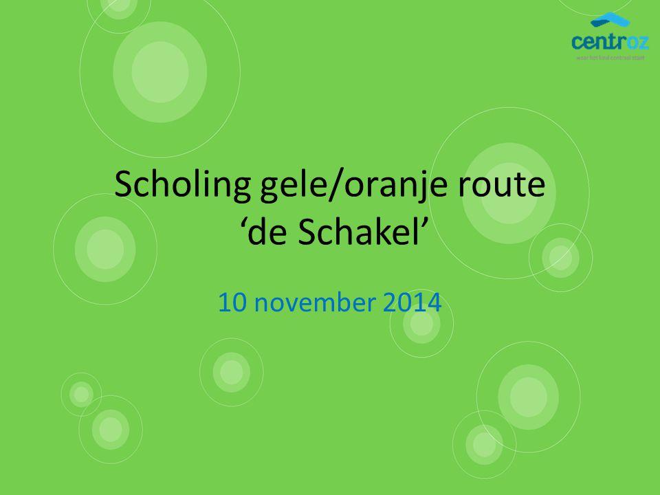 Scholing gele/oranje route 'de Schakel' 10 november 2014
