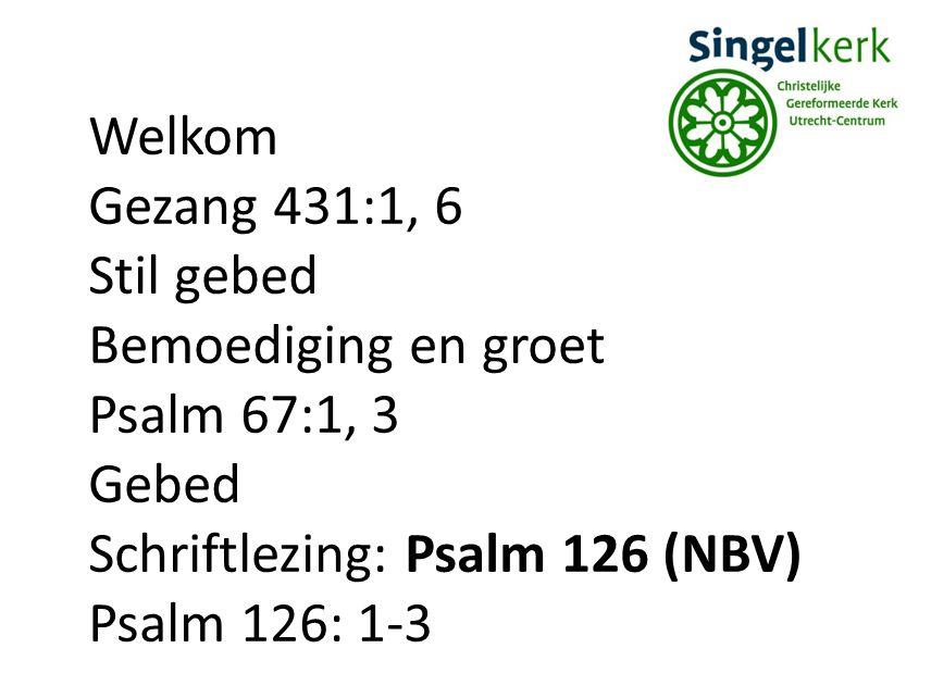 Verkondiging Lied 265: 1, 2, 4 Dankzegging Psalm 145: 1-3 Collectes Gezang 44:1, 3 Zegen Gezongen amen