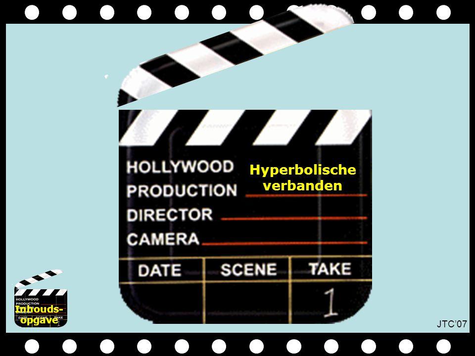 JTC'07 Hyperbolische verbanden Inhouds- opgave