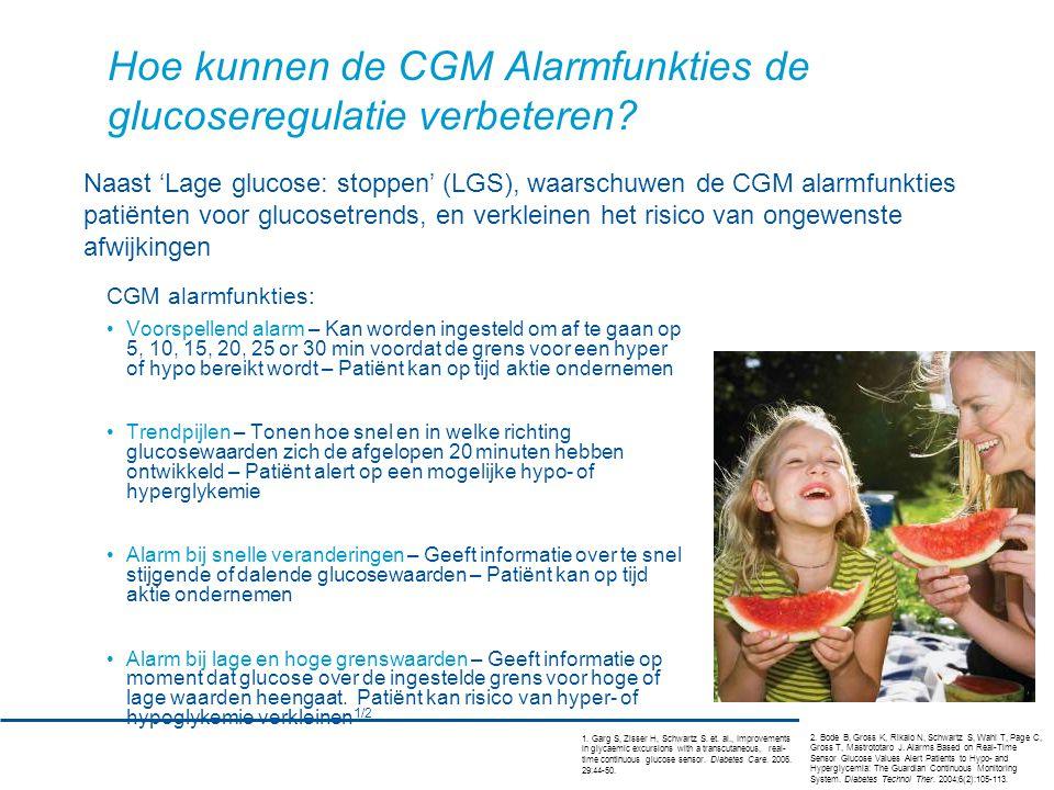 Hoe kunnen de CGM Alarmfunkties de glucoseregulatie verbeteren.