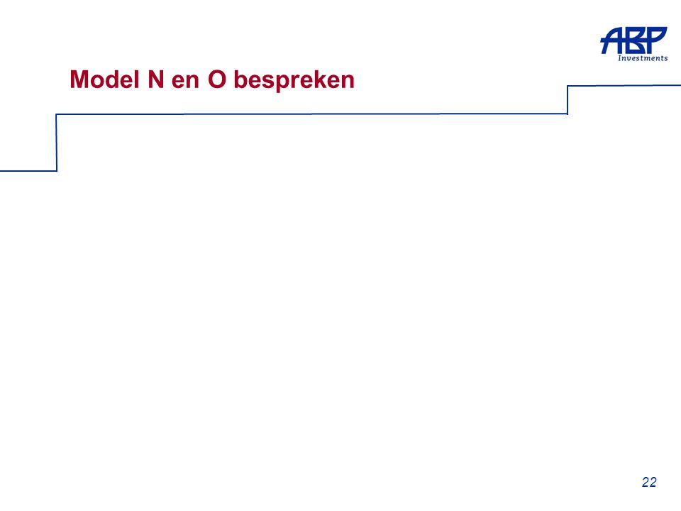 22 Model N en O bespreken