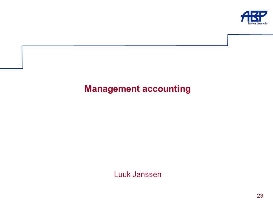 23 Management accounting Luuk Janssen
