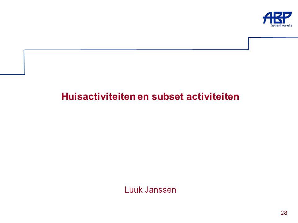 28 Huisactiviteiten en subset activiteiten Luuk Janssen