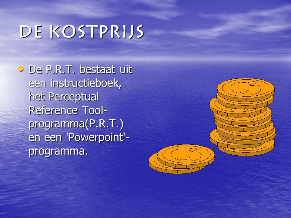 De kostprijs De P.R.T.