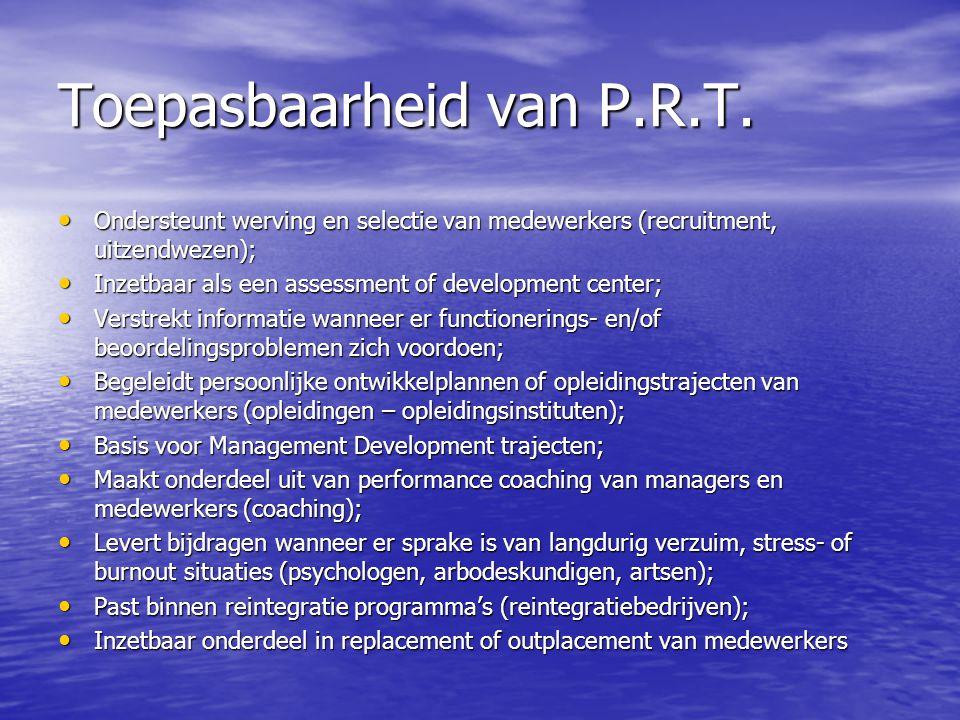 Toepasbaarheid van P.R.T.