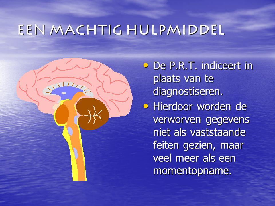 Een Machtig hulpmiddel De P.R.T. indiceert in plaats van te diagnostiseren.