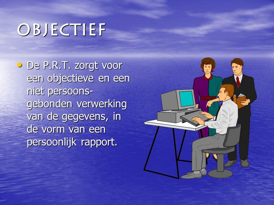 Objectief De P.R.T.