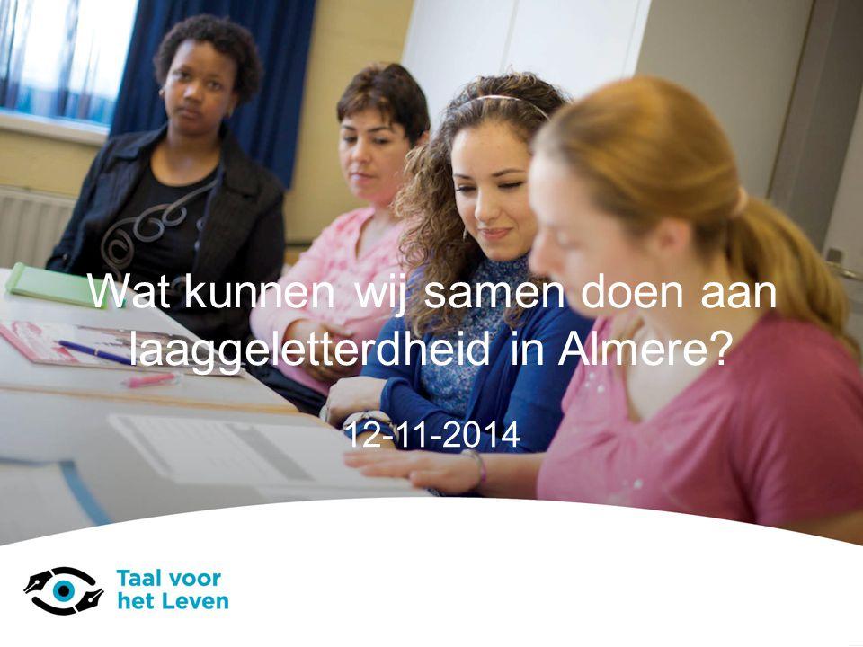 Wat kunnen wij samen doen aan laaggeletterdheid in Almere? 12-11-2014