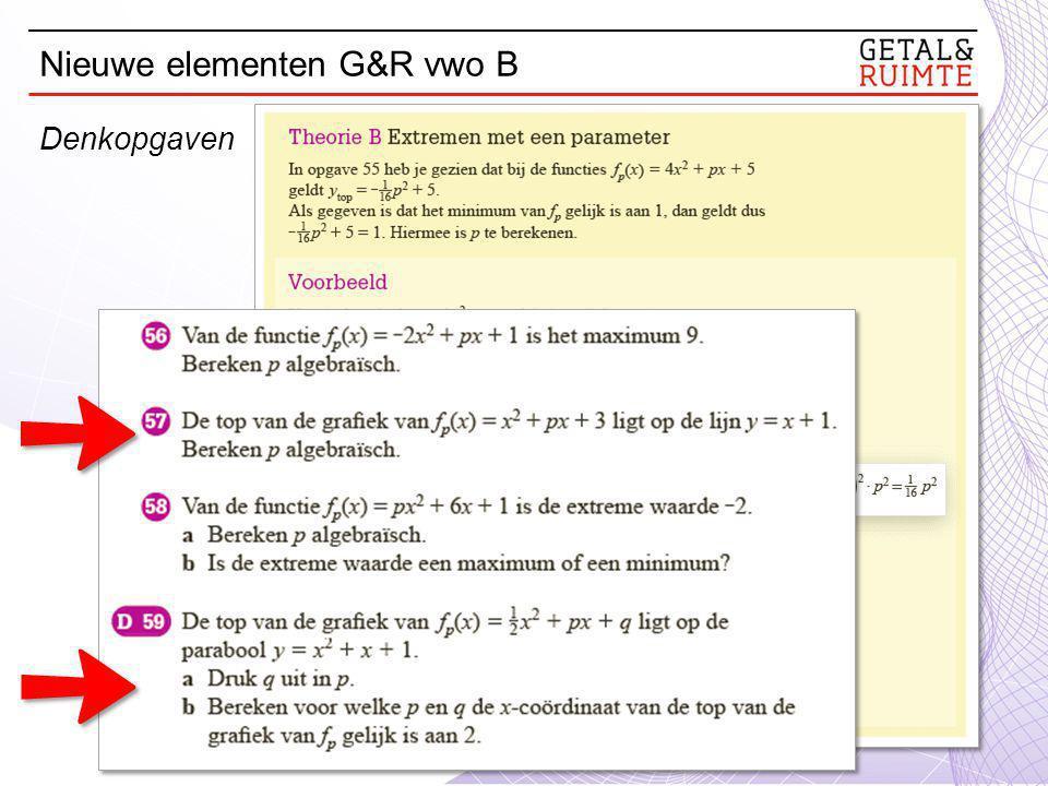 Nieuwe elementen G&R vwo B Denkopgaven