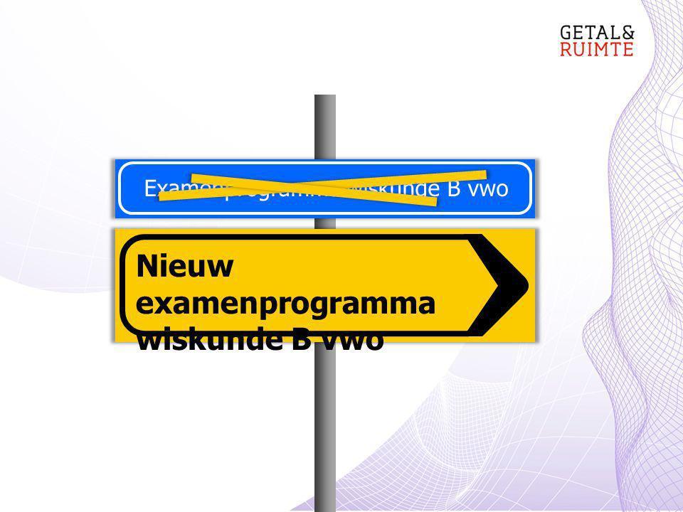 Examenprogramma wiskunde B vwo Nieuw examenprogramma wiskunde B vwo