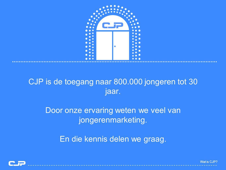 CJP is de toegang naar 800.000 jongeren tot 30 jaar.