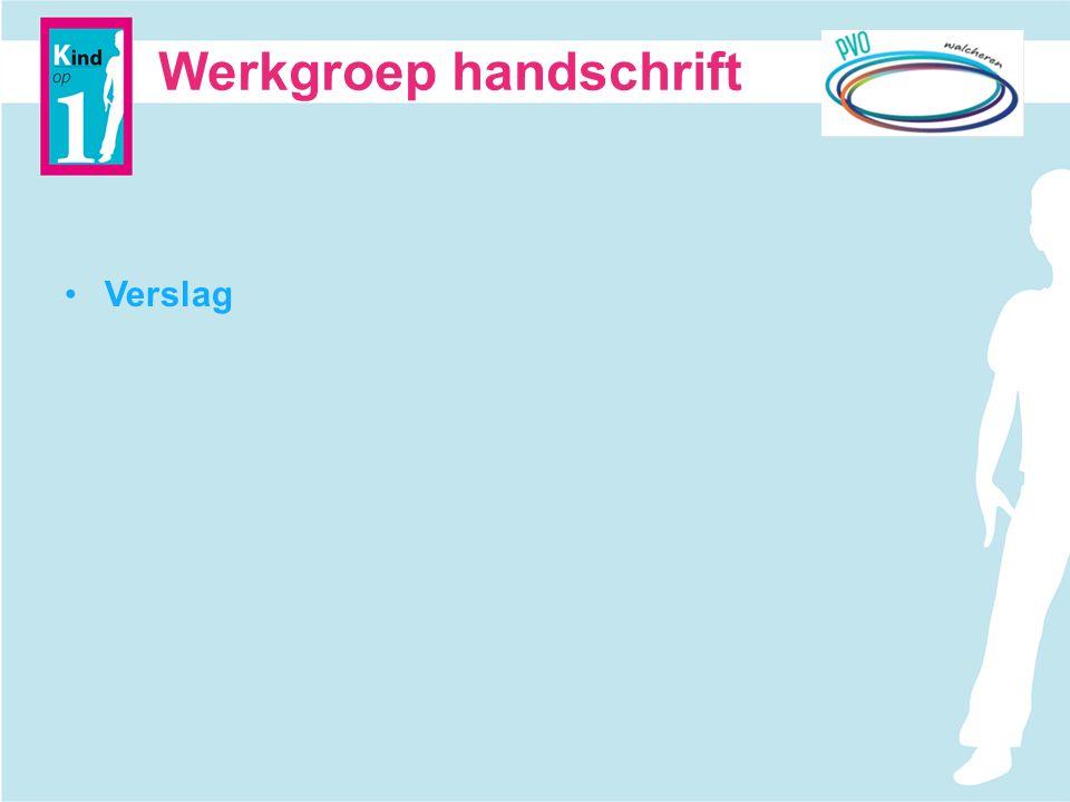 Werkgroep handschrift Verslag