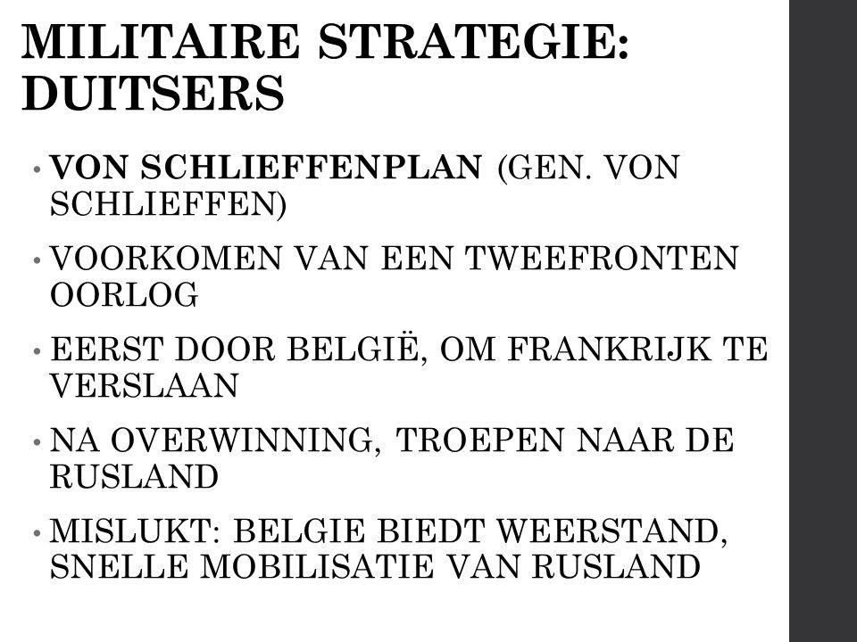 MILITAIRE STRATEGIE: DUITSERS VON SCHLIEFFENPLAN (GEN.