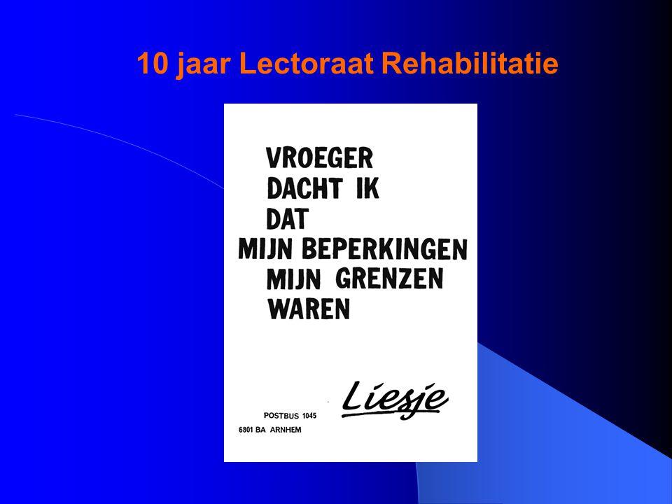 10 jaar Lectoraat Rehabilitatie