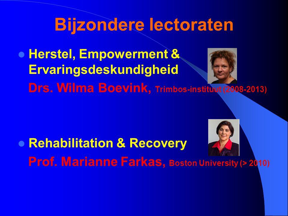 Bijzondere lectoraten Herstel, Empowerment & Ervaringsdeskundigheid Drs.