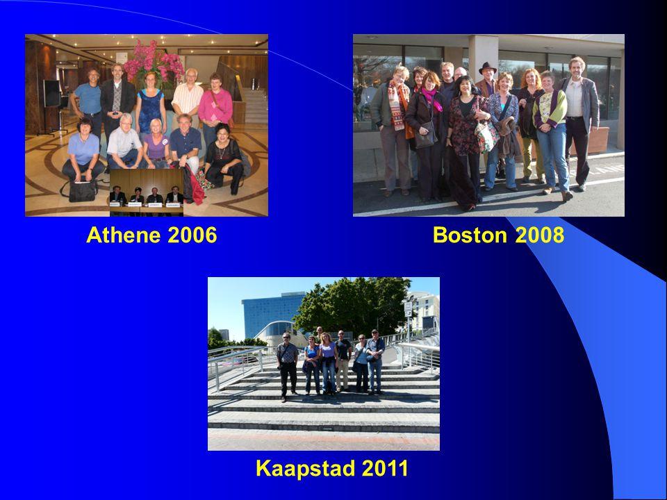 Athene 2006 Kaapstad 2011 Boston 2008