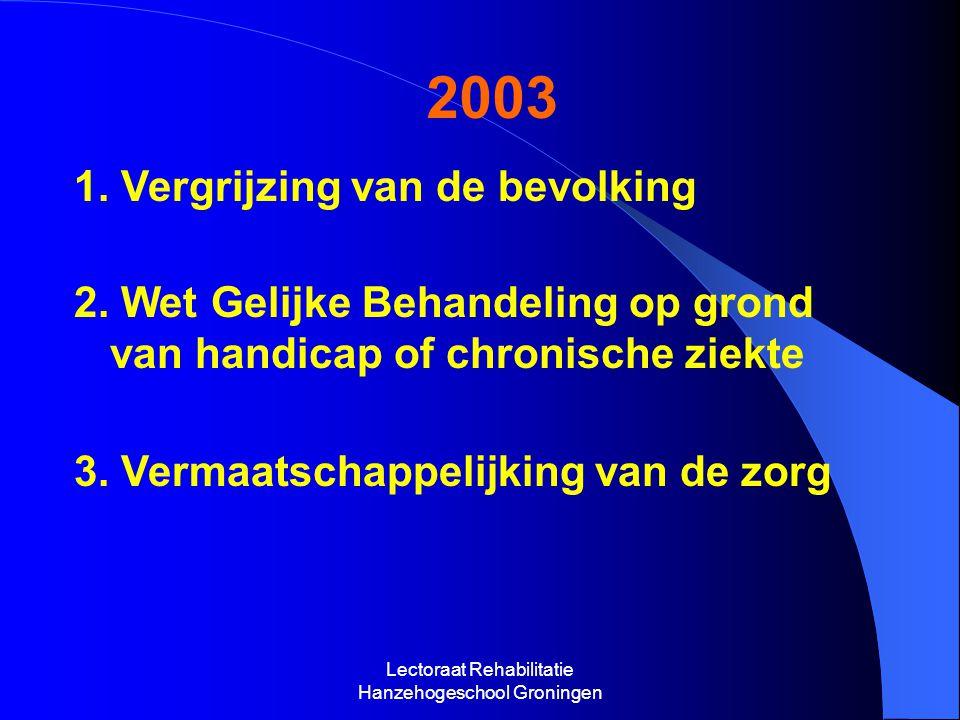 Lectoraat Rehabilitatie Hanzehogeschool Groningen 2003 1.