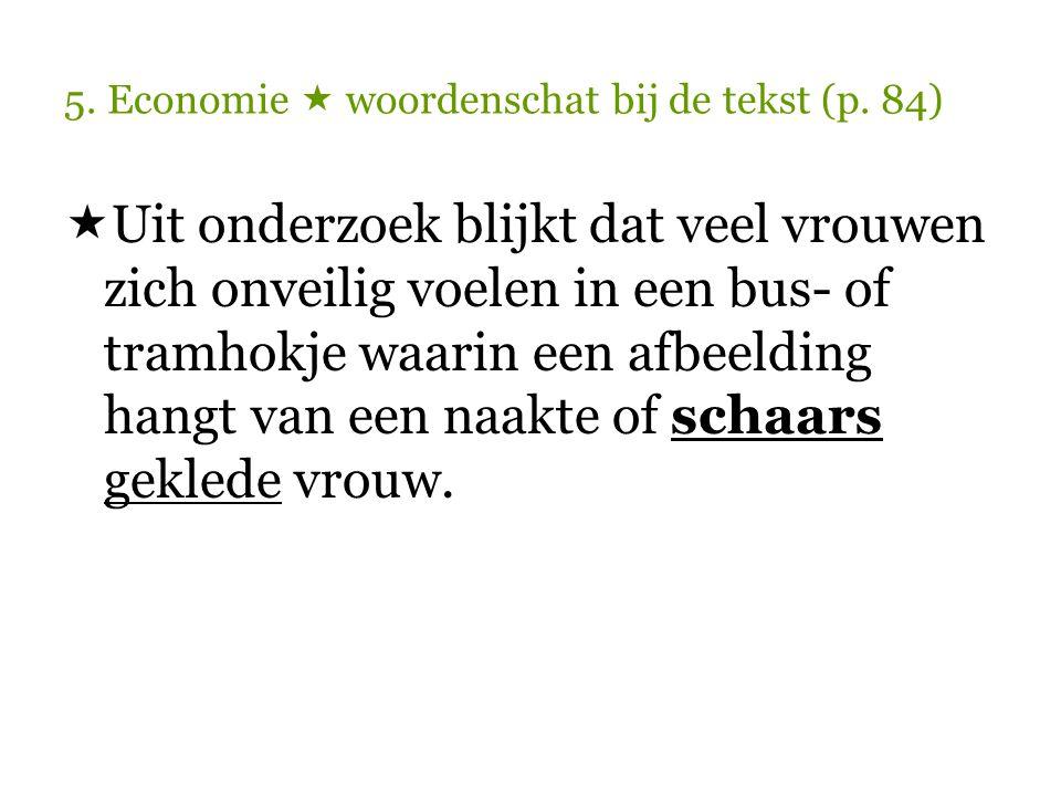 5.Economie  woordenschat bij de tekst (p.