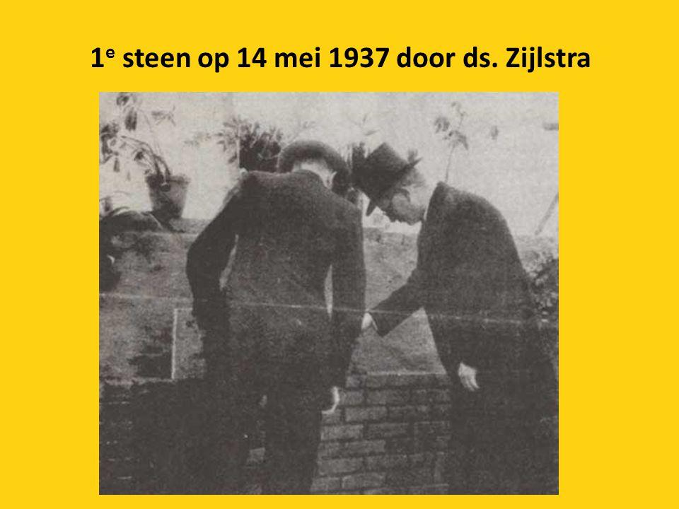 1 e steen op 14 mei 1937 door ds. Zijlstra