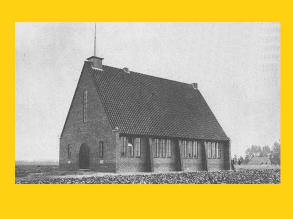 Gereformeerde Kerk en pastorie, omstreeks 1950