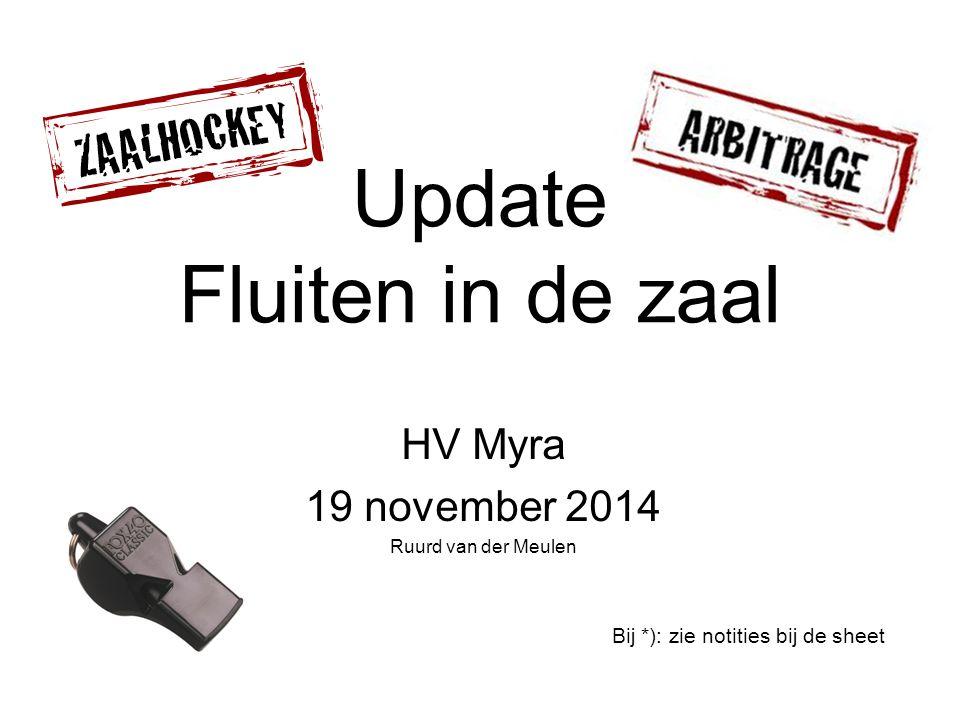 Update Fluiten in de zaal HV Myra 19 november 2014 Ruurd van der Meulen Bij *): zie notities bij de sheet