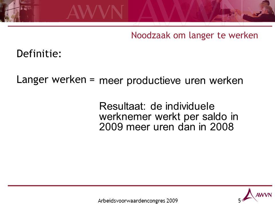 Arbeidsvoorwaardencongres 200916 Cao-afspraken 2009 Suggesties.