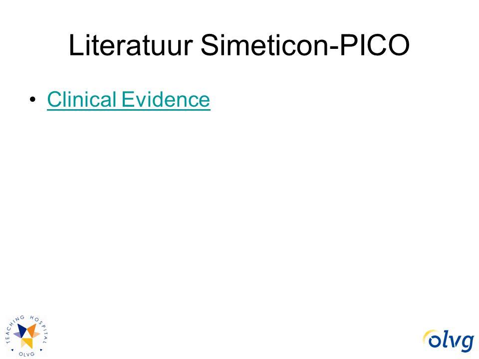 Literatuur Simeticon-PICO Clinical Evidence