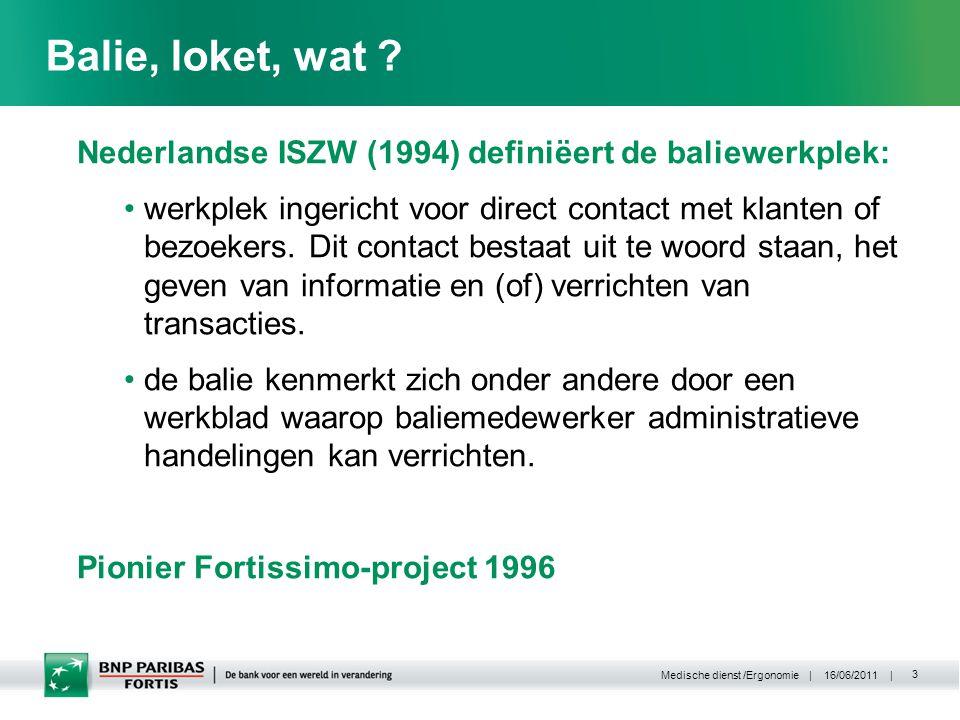 | 16/06/2011 | Medische dienst /Ergonomie 3 Balie, loket, wat .